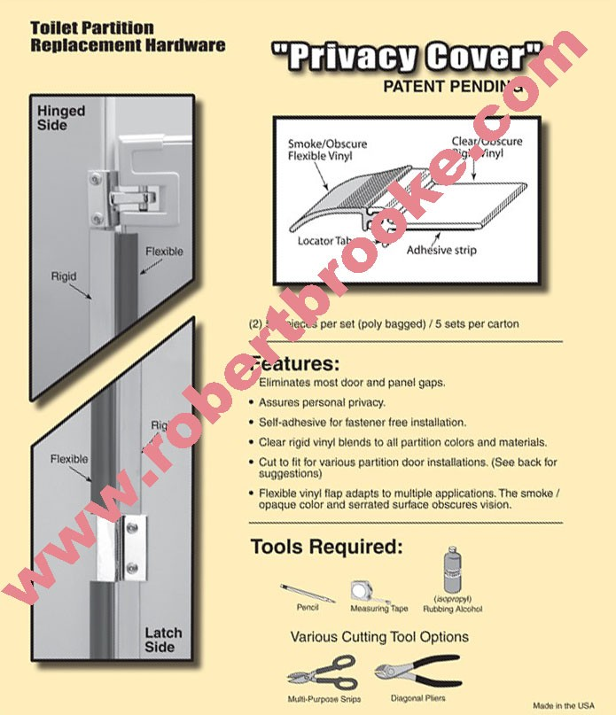 Toilet Partition Privacy Covers Strips Trim Robert Brooke Helps - Bathroom partitions michigan