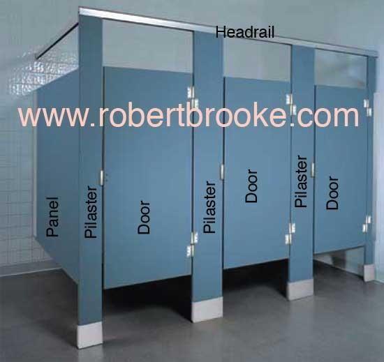 Toilet Partition Solid Plastic Door Guide