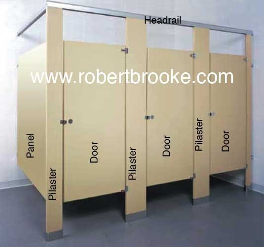 Toilet partition powder coated steel panel s guide for Bathroom stall partitions parts