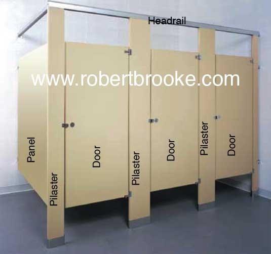 Bathroom Stall Powder coated steel pilasters & TOILET PARTITION POWDER COATED STEEL PILASTER GUIDE - Robert Brooke ...