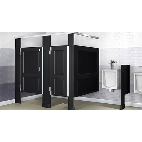 Black Bathroom Stalls scranton products - worry free partitions | robert brooke helps